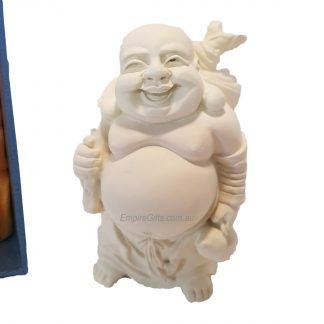 Laughing Buddha Statue Standing  Buddha Wealth & Happiness Ivory
