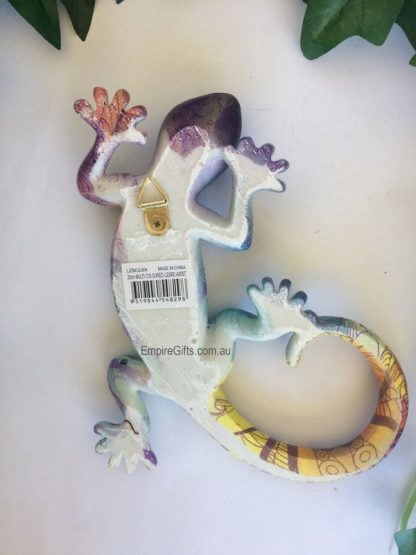 Lizard multi coloured lizard wall plaque #1