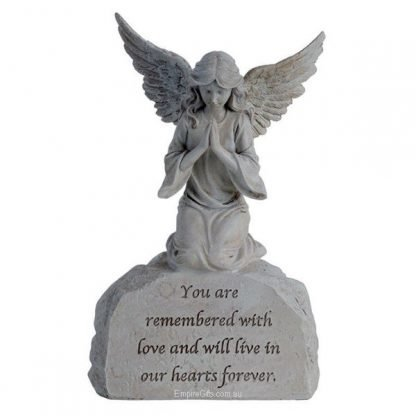 Memorial Angel Sentiment Statue You are remembered with love