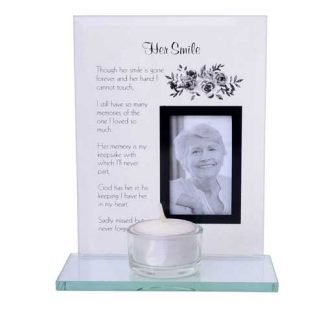 Her Smile Memorial Tealight Photo Holder Remembrance