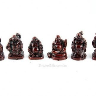 Mini Buddha Statue Figurines Set of 6