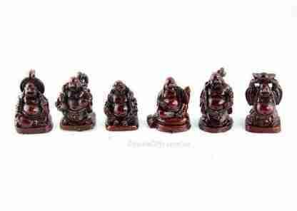 Mini Buddha Statue Figurines Set of6
