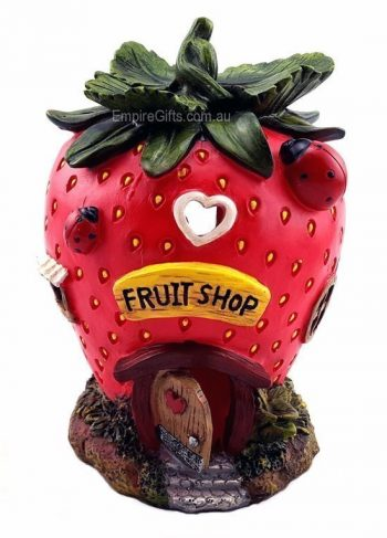 Strawberry Fairy House Fruit Gnome Cottage Statue