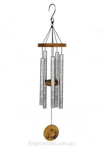Sutra Tune Wind Chime with Happy Buddha and Chinese Symbols