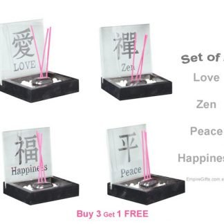 10cm Inspirational Incense Holder Zen Garden Set of 4-free