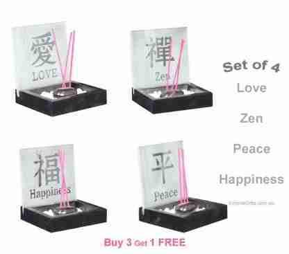 10cm Inspirational Incense Holder Zen Garden Set of 4-free