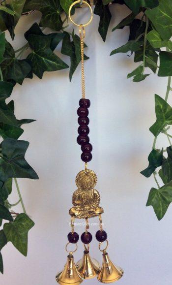 Buddha Brass Bell Chimes Hanging Mobile Dark red