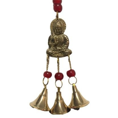 1pc Ganesh Buddha Brass Bell Gold Chimes Hanging Mobile Red