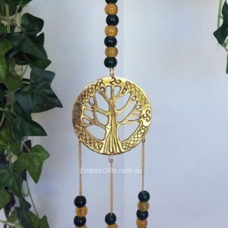 Tree Of Life - Bell Chimes Green n Gold