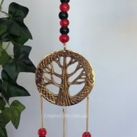 Tree Of Life - Bell Chimes Green Beads