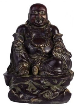 1 x 28cm Laughing Buddha Feng Shui Garden Statue