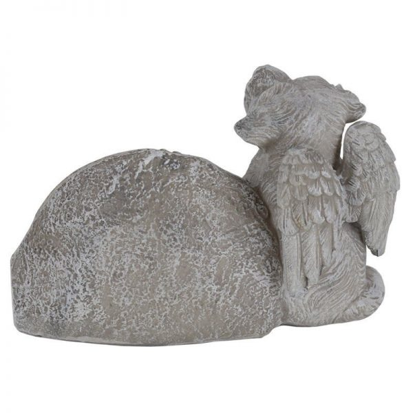 15cm Pet Dog Memorial Garden Rock with Verse -1