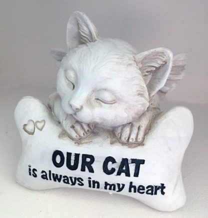 1pc Cat Pet Memorial Statue Inspirational Words