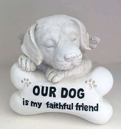 1pc Dog Pet Memorial Statue Headstone Inspirational Words