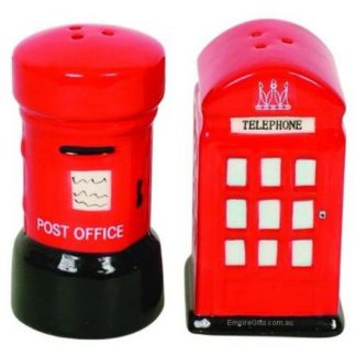2pc Salt & Pepper London Phone Box + Post Box Collectables