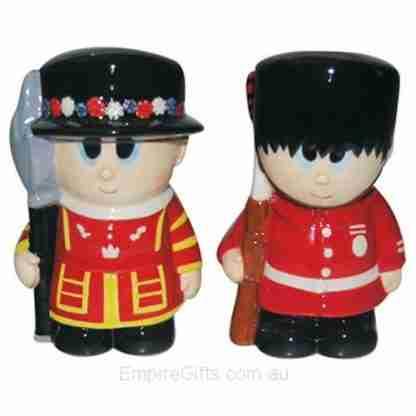 2pc Salt & Pepper London Tower Guard Ceramic Collectables