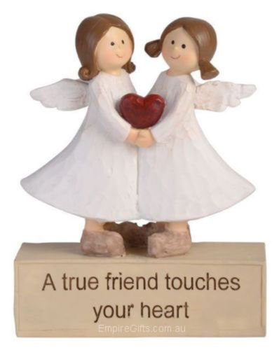 1 x Adoring Angel Figurine True Friend Ornament