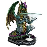 1 x Dragon Oil burner 22cm x 15cm Statue Collectable