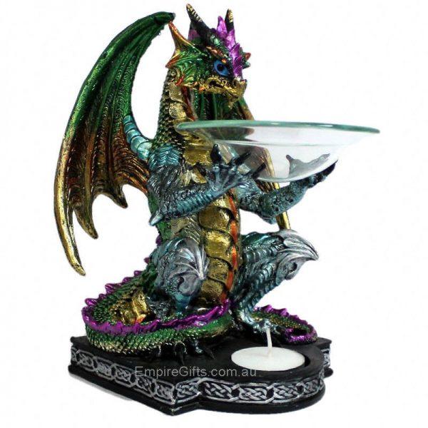 1 x Dragon Oil burner 22cm x 15cm Statue Collectable