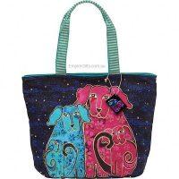 1 x Designer Handbag Blossoming Pups Laurel Burch