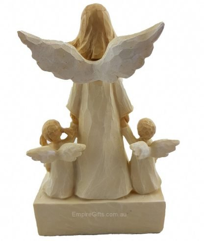 Cherish Angel Mother with Babies Best Mum Ornament Statue