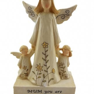 Cherish Angel Mother with Babies Best Mum Ornament Statue