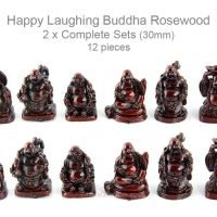 12pcs Happy Laughing Buddha RED 30mm SET