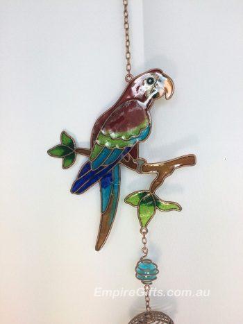 Bird Parrot Wind Chime Animal Garden Hanging Mobile