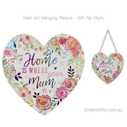 1pc Mum Heart Wall Art Gift for Mum Plaque Home Saying