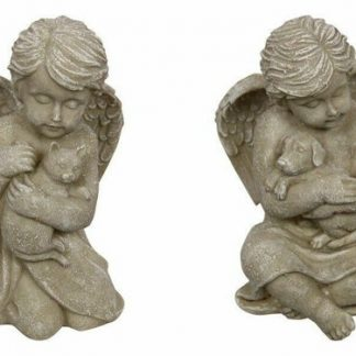 Cat / Dog Memorial Angel Holding Pet Garden Statue