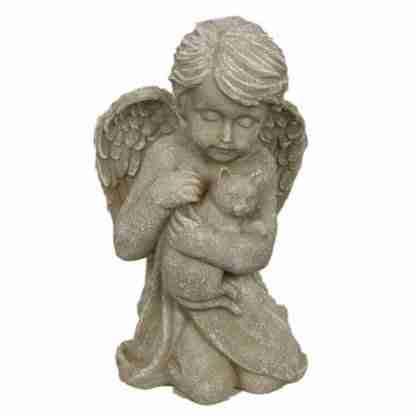 Angel Cat Pet Memorial Statue