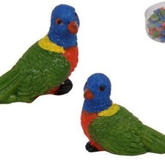 36pc Miniature Rainbow Lorikeet Parrot Fairy Garden Cake Decoration