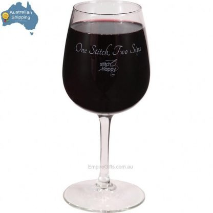 1pc Wine Glass - One Stitch Two Sips Sewing Gift