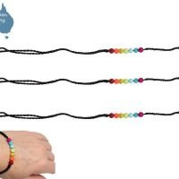 Chakra Beads on Rope Bracelet in Glass