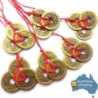 6 x Three Lucky Coins Feng Shui I Ching Coins