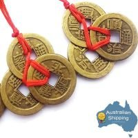 3 x Three Lucky Coins Feng Shui I Ching Coins