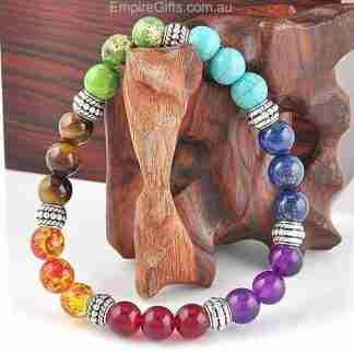 7 Chakra Crystal Stone Reiki Healing & BalancingBracelet