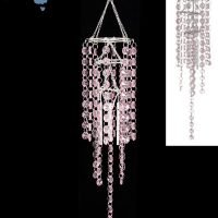 1 x 61cm Crystal Chandelier Wind Chime Hanging Mobile Pink