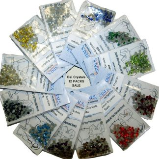12 x DalCrystals Hotfix Rhinestone Crystal 4mm 60% OFF