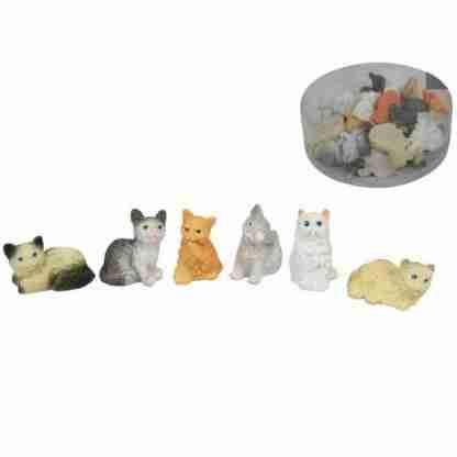 24pc Miniature Cat Figurine Ornament Fairy Garden Statue BULK Set