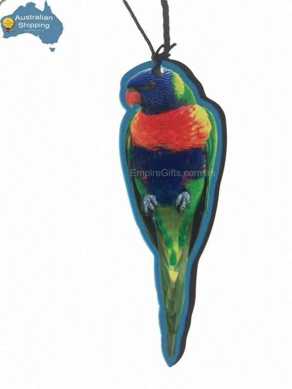 Rainbow Lorikeet Wind Chime Metal Garden Hanging Mobile 8pc NEW