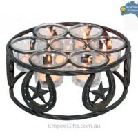 8pc Lucky Horseshoe Candle Holder Rustic Farmhouse Cowboy
