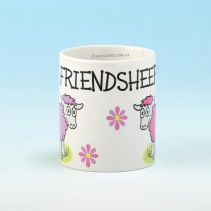 "1pc Coffee Mug Irish Sheep ""Friendsheep"" Ceramic Cup"