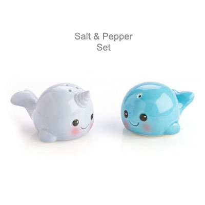 Narwhal Whale Salt and Pepper Shakers Collectables