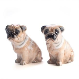 2pc Pug Dog Salt and Pepper Set Ceramic Collectables