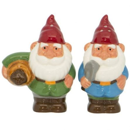 Gnome Salt and Pepper Set Ceramic Collectables