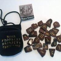 25pc-Runes-Natural-Mahogany-Obsidian-Gemstones-Viking-Rune-Stones