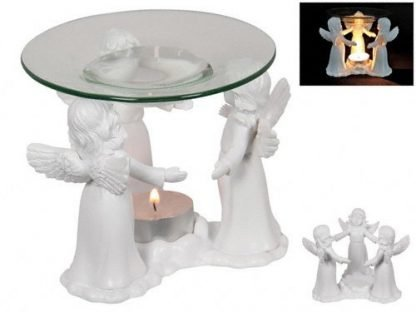 1 x Angel Circle of Friends Oil Burner Tealight Candle