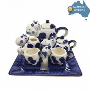 10pc Mini Tea Set COW Vintage Ceramic Teapot Collectable NEW DESIGN