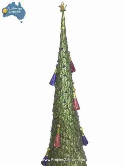 1pc Beautiful Christmas Tree Filigree Tasselled Statue